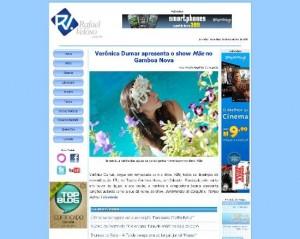 Página inicial do site Rafael Veloso.com.br